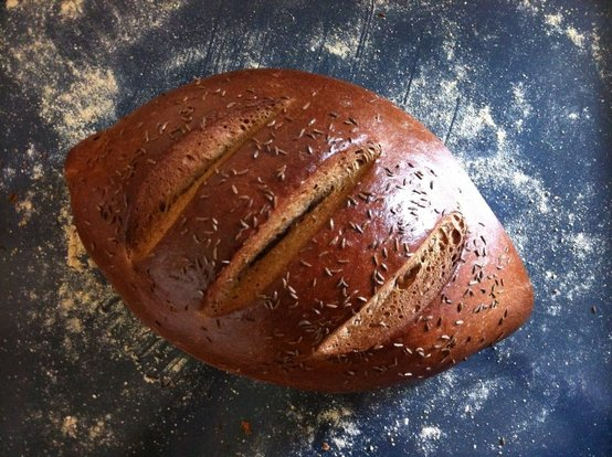 Caraway, Molasses and Lager Rye Bread - Don't Lick That Spoon.